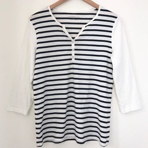 Croft & Barrow   Long sleeve striped Top